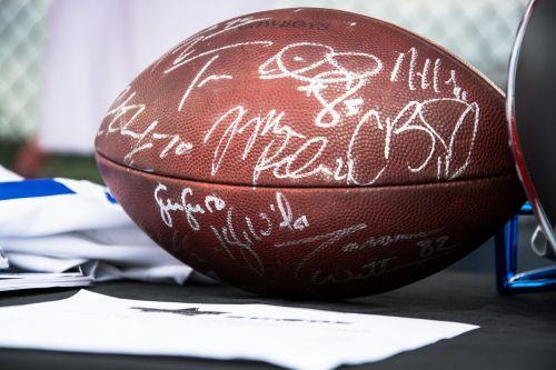 signed football football autograph