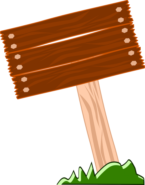 signpost wooden blank