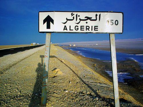 signpost algeria 150 km