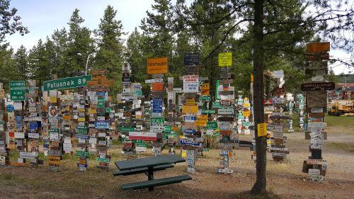signpost forest watson lake yukon