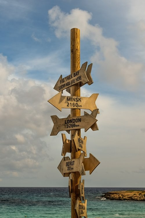 signposts  signs  distance from