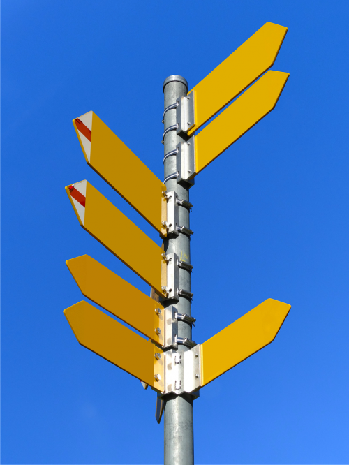 signposts directory path direction