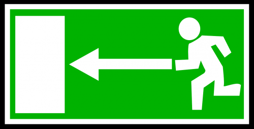signs exit emergency