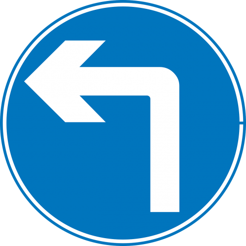 signs left turn