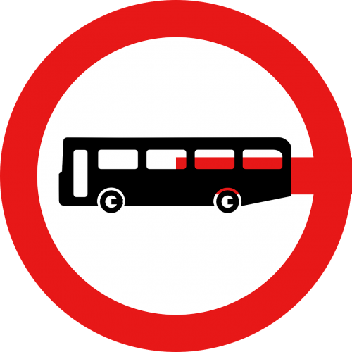 signs bus stop