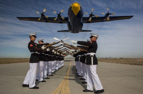silent drill platoon marine corps fat albert