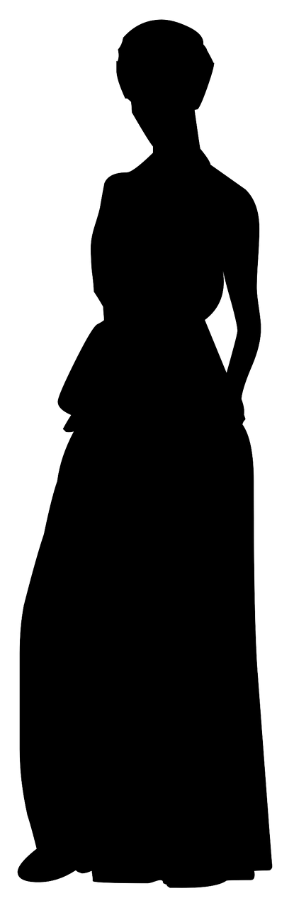 silhouette woman evening