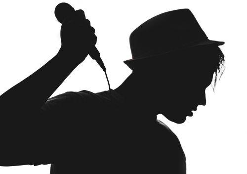 silhouette musician vocalist