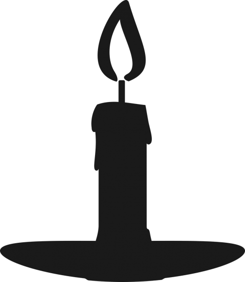 silhouette candle gray