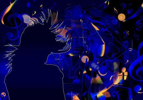 silhouette girl man