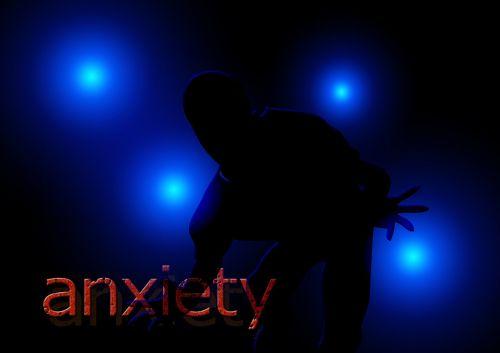silhouette fear man
