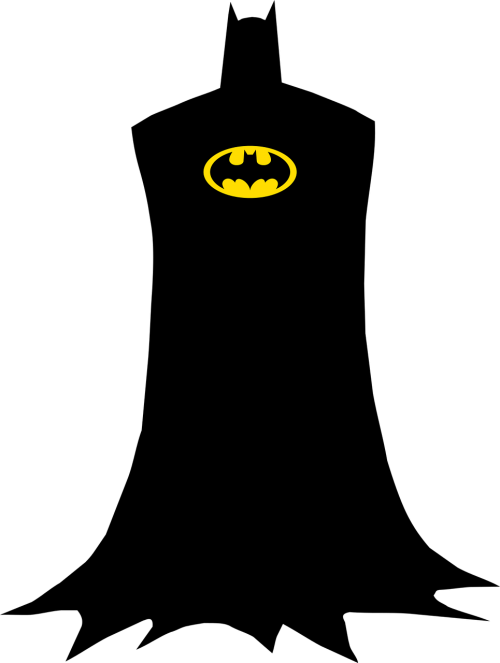 silhouette super-heroes free vector graphics