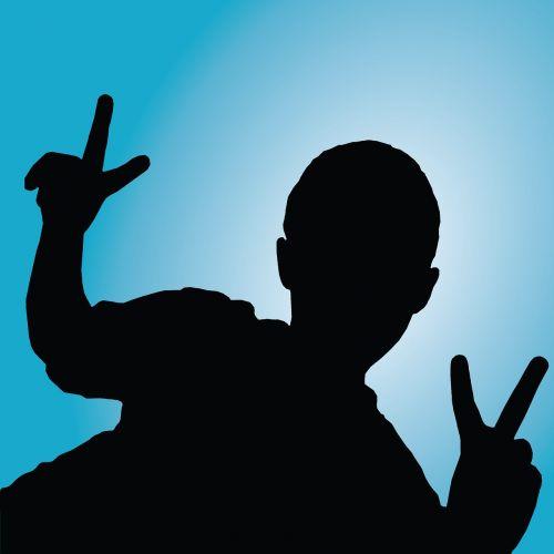 silhouette backlit people