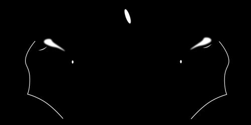 silhouette horses chess
