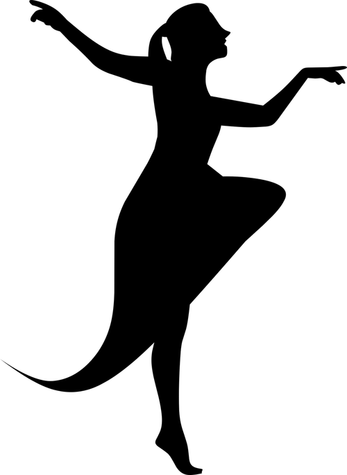 silhouette  climbing  ballerina