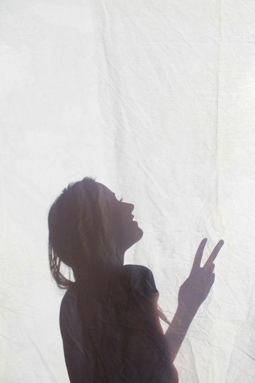 silhouette girl shadow