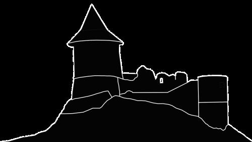 silhouette castle medieval castle