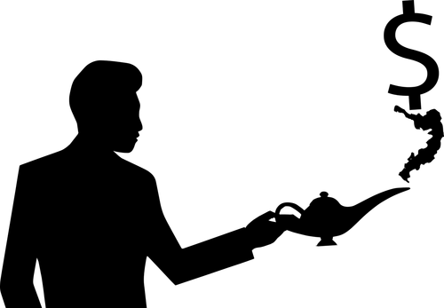 silhouette  lamp  magic
