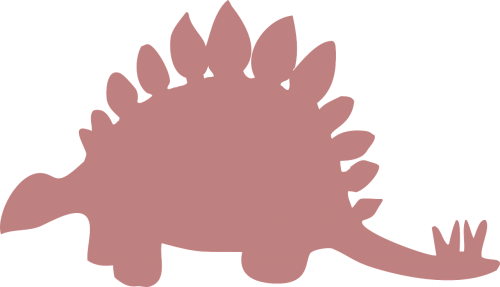 silhouette pink stegosaurus