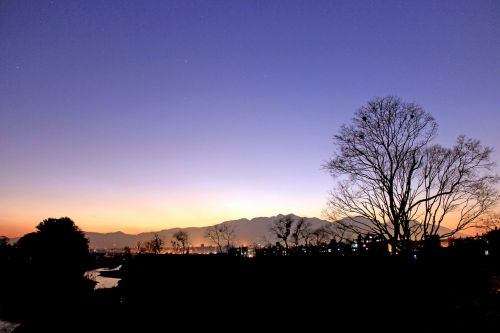 silhouette evening eve