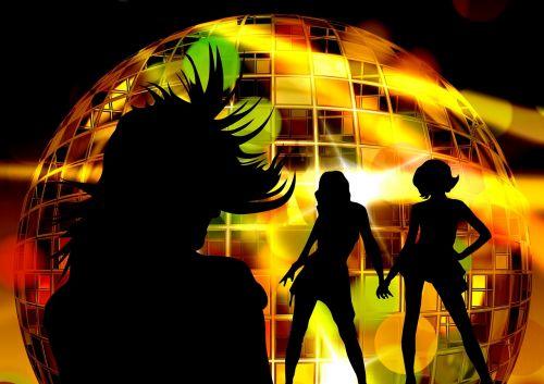 silhouette girl movement