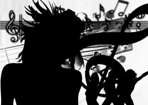 silhouette girl dance