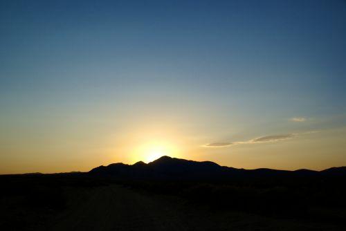 Silhouette Desert Sunset