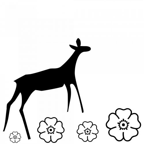 Silhouette Of A Doe