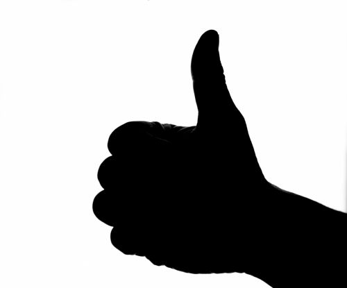 Silhouette Of Thumb Up Hand