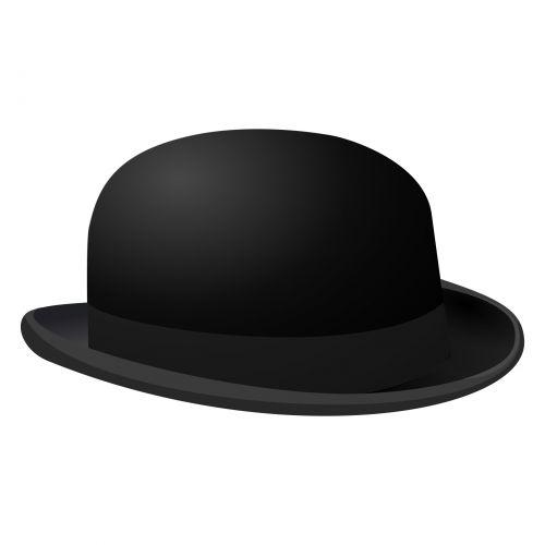 Silhouette Symbol Of Bowler Hat