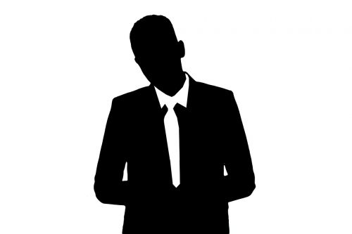 silhouettes man human