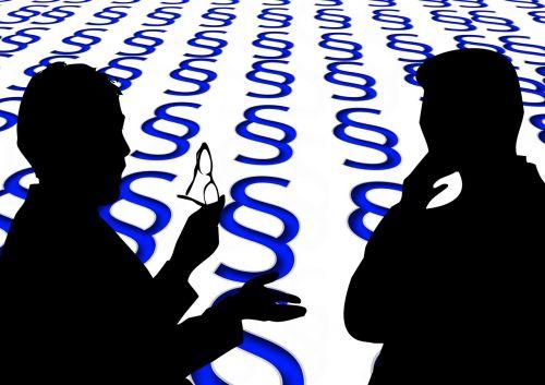 silhouettes men businessmen