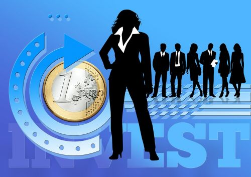silhouettes businesswoman businessman