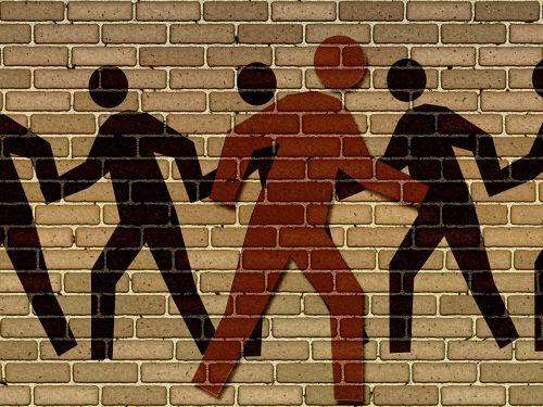 silhouettes against nonconformist