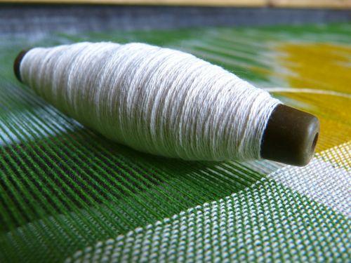 silk yarn thread spool