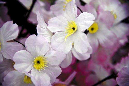Silk Flowers Pink