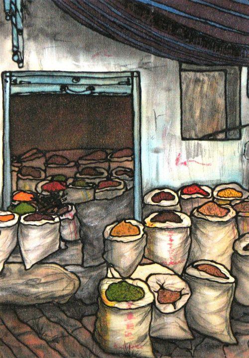 silk painting painting market