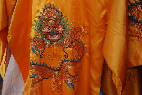 Silk Robe Embroidery