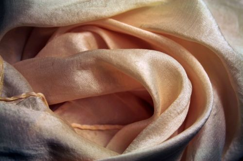 Silk Scarf With Pink Tints
