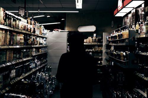 sillhouette person alcohol
