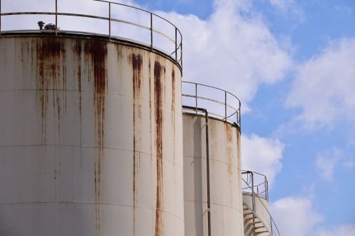 silo stainless old