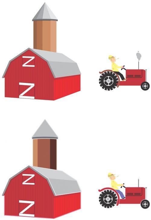 silo barn tractor