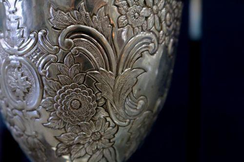 silver etched goblet