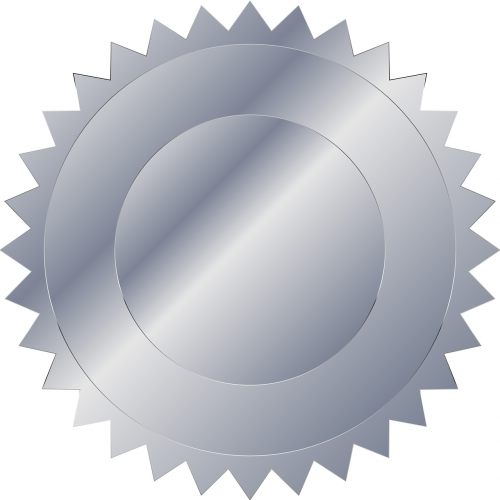 silver plaque medal