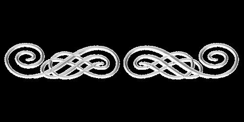 silver ornamental flourish