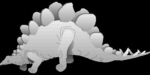 silver dinosaur stegosaurus