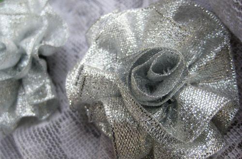 Silver Brooch Rose