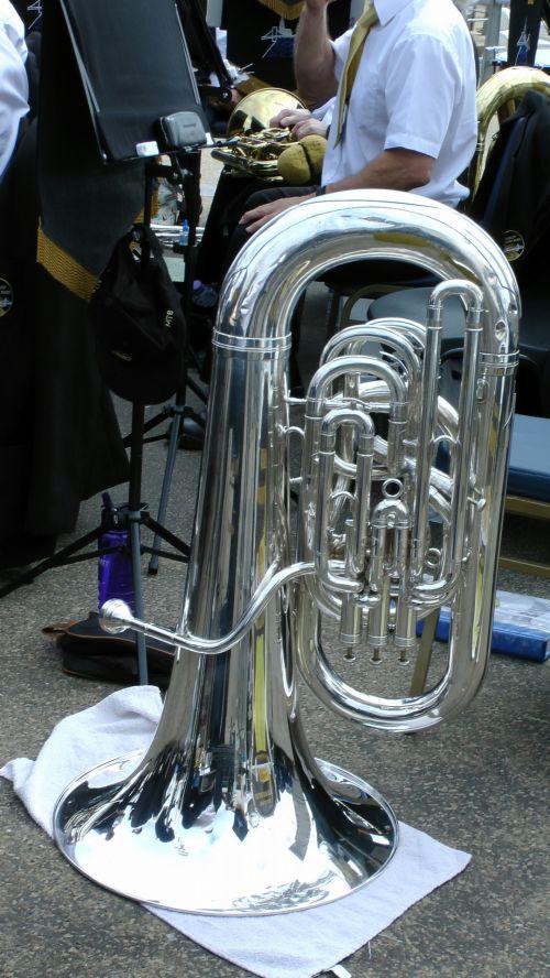 Silver Colored Tuba