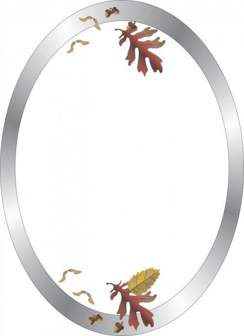 Silver Ellipse Frame