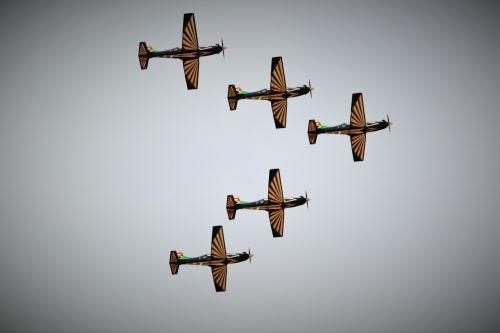 Silver Falcon Jets V Formation
